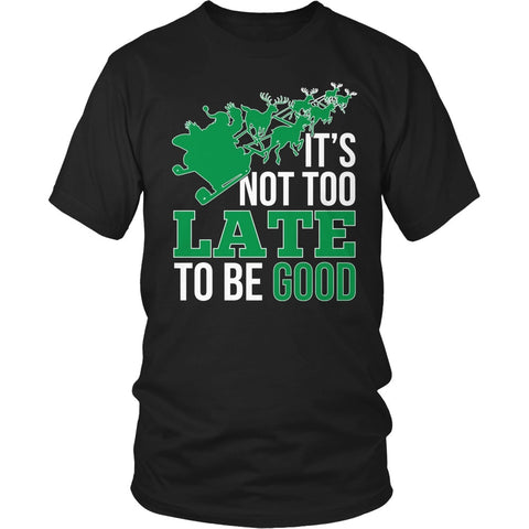 Teacher - Not Too Late - District Unisex Shirt / Black / S - 1