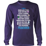 Teacher - Poem - District Long Sleeve / Purple / S - 11