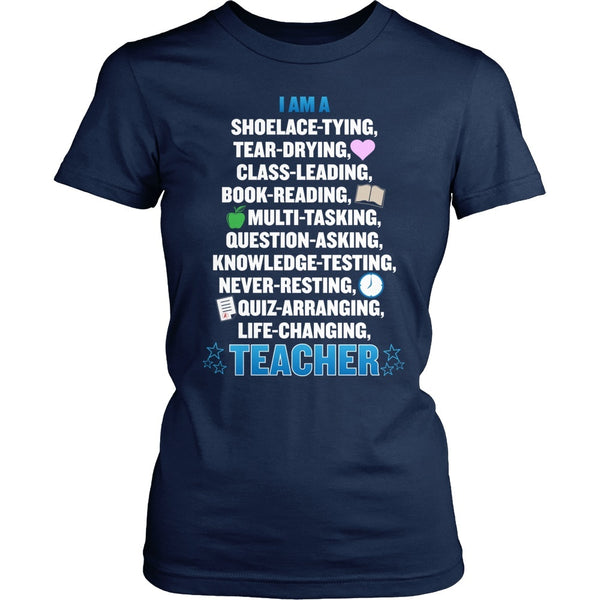 Teacher - Poem - District Made Womens Shirt / Navy / S - 1