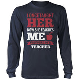 Teacher - Proud Dad - District Long Sleeve / Navy / S - 11