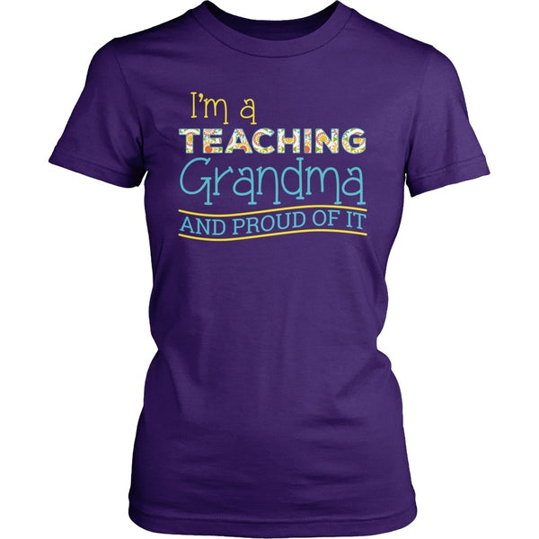 Teacher - Proud Grandma - District Made Womens Shirt / Purple / S - 1