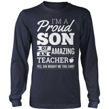 Teacher - Proud Son - District Long Sleeve / Navy / S - 10