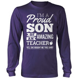 Teacher - Proud Son - District Long Sleeve / Purple / S - 11