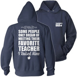 Teacher - Raised Mine Dad - Hoodie / Navy / S - 13