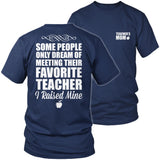 Teacher - Raised Mine Mom - District Unisex Shirt / Navy / S - 6