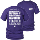Teacher - Raised Mine Mom - District Unisex Shirt / Purple / S - 8