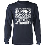 Teacher - Skipping - District Long Sleeve / Navy / S - 10