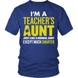 Teacher - Smarter Aunt - District Unisex Shirt / Royal Blue / S - 2