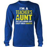 Teacher - Smarter Aunt - District Long Sleeve / Royal Blue / S - 6