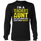 Teacher - Smarter Aunt - District Long Sleeve / Black / S - 8