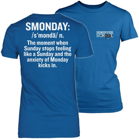 Teacher - Smonday - District Made Womens Shirt / Royal / S - 1