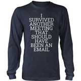 Teacher - Survived - District Long Sleeve / Navy / S - 10
