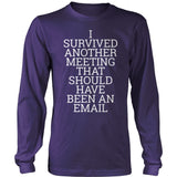 Teacher - Survived - District Long Sleeve / Purple / S - 11