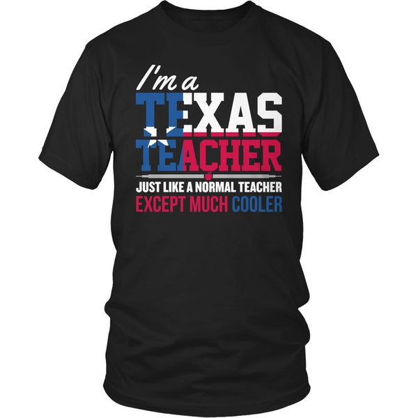 Teacher - Texas Cooler - District Unisex Shirt / Black / S - 1