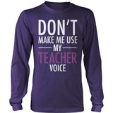 Teacher - Voice - District Long Sleeve / Purple / S - 11