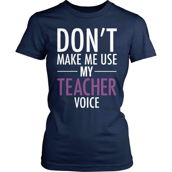 Teacher - Voice - District Made Womens Shirt / Navy / S - 1