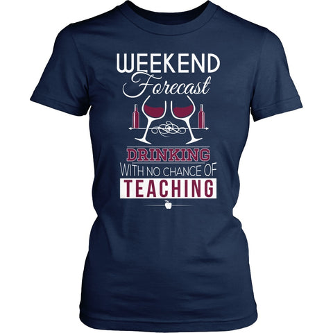 Teacher - Weekend Forecast - District Made Womens Shirt / Navy / S - 1