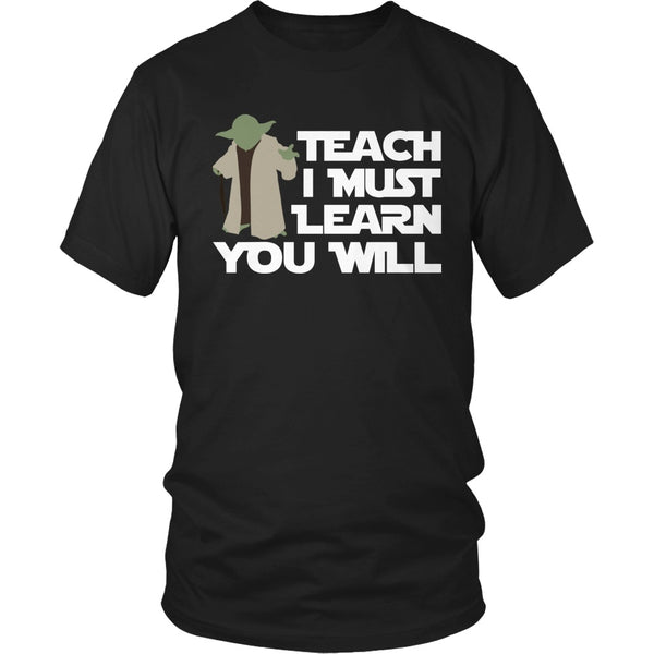 Teacher - Yoda - District Unisex Shirt / Black / S - 1