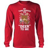 Third Grade - Deer to Me - District Long Sleeve / Red / S - 8