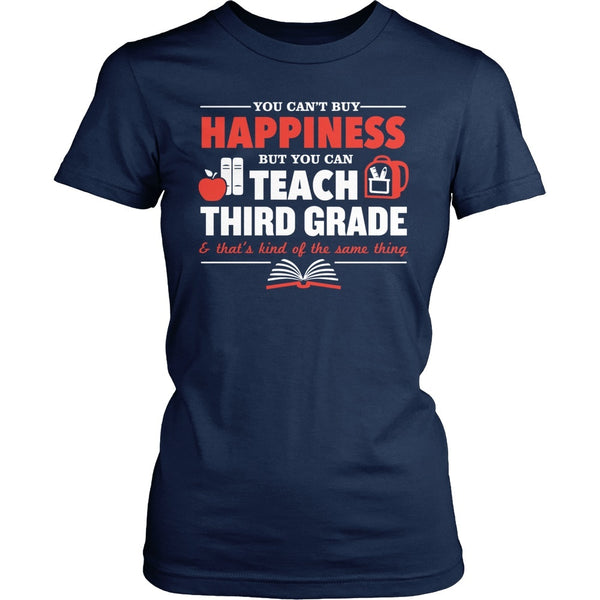 Third Grade - Happiness - District Made Womens Shirt / Navy / S - 1