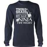 Third Grade - Ninja - District Long Sleeve / Navy / S - 10