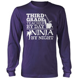 Third Grade - Ninja - District Long Sleeve / Purple / S - 11