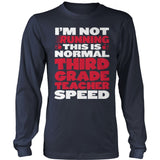 Third Grade - Normal Speed - District Long Sleeve / Navy / S - 10