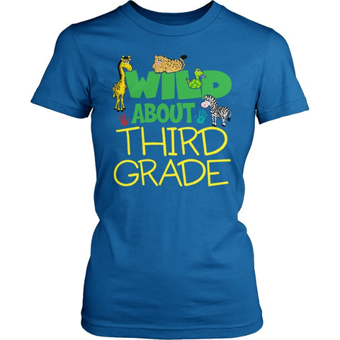 Third Grade - Wild - District Made Womens Shirt / Royal / S - 1
