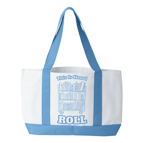 Librarian - How I Roll - White / Light Blue - 1