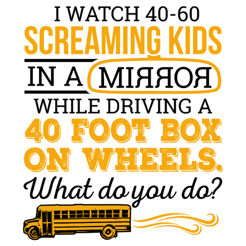 School Bus Driver - What Do You Do -  - 4