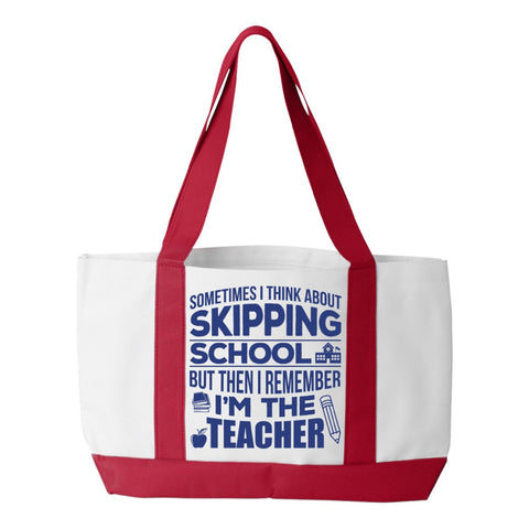 Teacher - Skipping School - White / Red - 1
