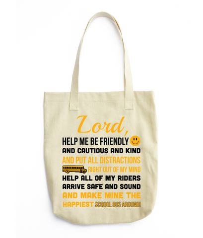 School Bus Driver - Prayer Tote -  - 2