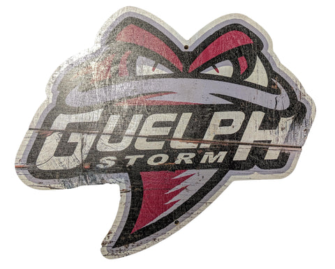 Guelph Storm Distressed Wooden Logo