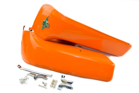 Motobecane Leg Shields - Orange