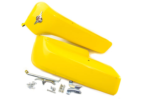 Motobecane Leg Shields - Yellow