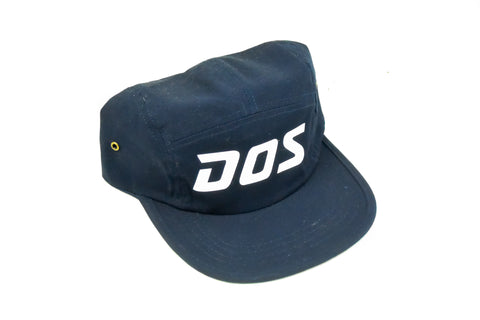 DOS 5 Panel - White on Navy