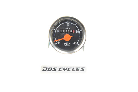 CEV Black and White 40mph Speedometer
