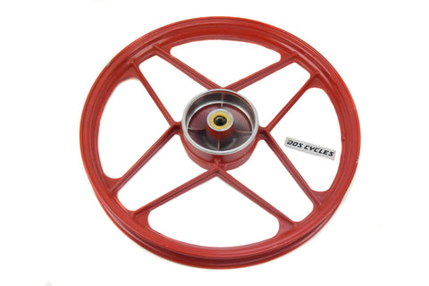 NOS Derbi Front Mag Wheel - RED