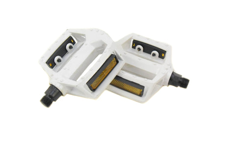 White METAL Pedals