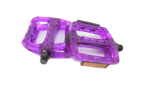Purple Plastic Pedals