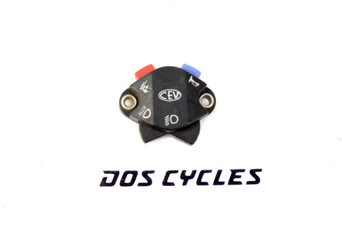 CEV Diamond Plastic Horn Kill and Light Switch