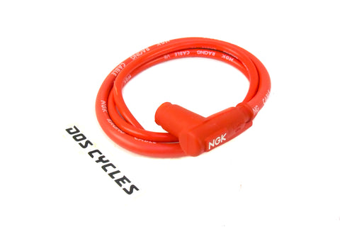 NGK CR5 Red Silicone Spark Plug Wire with Boot