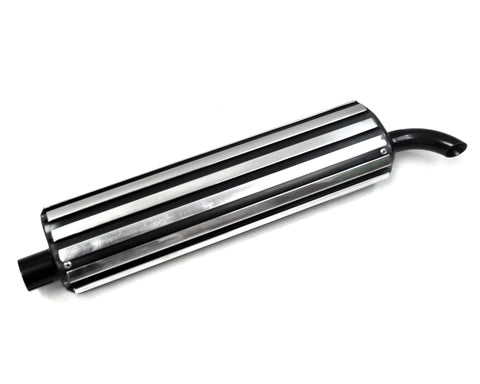 Black and Chrome Rail Baffle