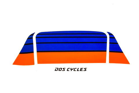 Derbi Variant Sport Headlight Decals - Blue/Orange