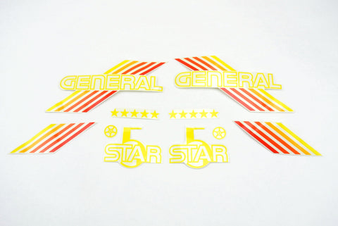 General 5 Star Decal Set - Orange