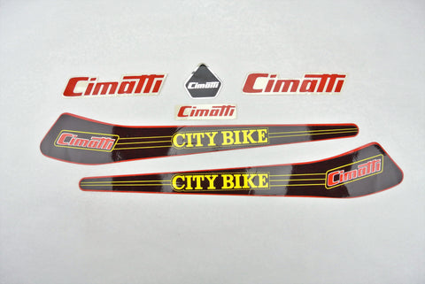 Cimatti City Bike Decal Set