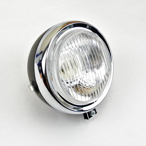 Black and Chrome Round Headlight - 5 Inch