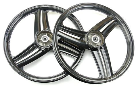 "Grimeca 17"" 3 Blade Peugeot Wheel Set - Black"