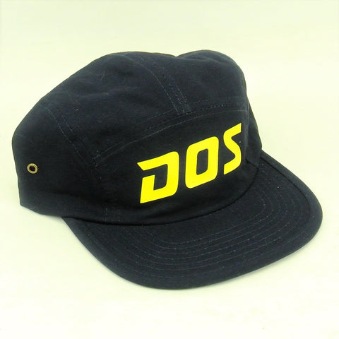 DOS 5 Panel - Yellow on Navy