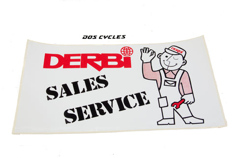 Derbi Sales and Service Shop Decal